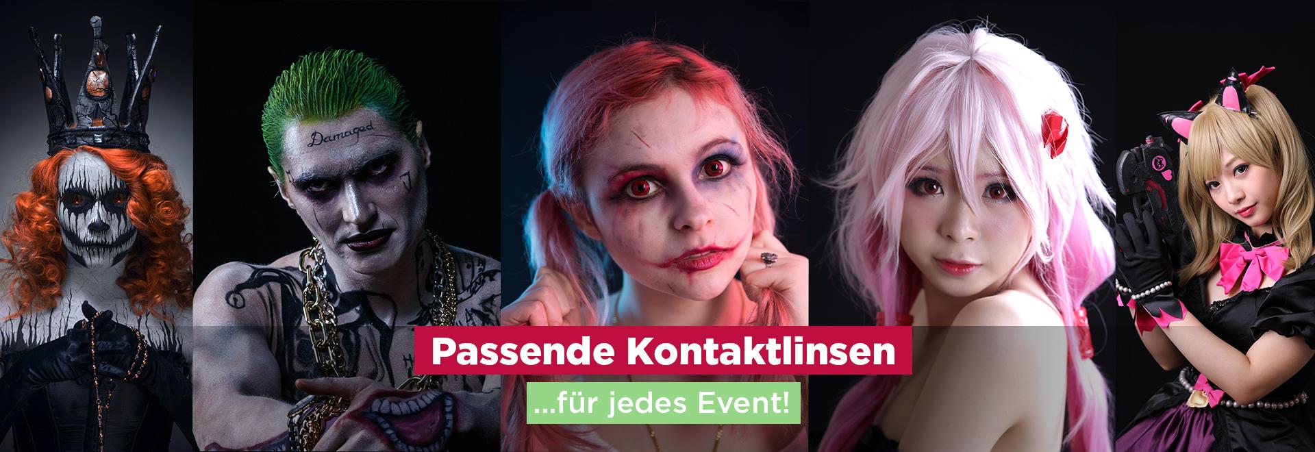 Farbige Motivkontaklinsen Crazy Fun Linsen 2021