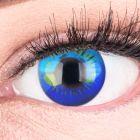 """Funnylens Anime Kontaktlinsen """"Anime Blue"""" Komplettset mit Behälter und Kombilösung oder im Basic Set"""