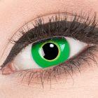Das Produktfoto zeigt unsere Crazy gruen Farbige Kontaktlinse Ectoplasma in einem echten Auge