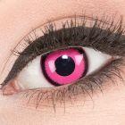 Das Produktfoto zeigt unsere Crazy pinke Farbige Kontaktlinse Rose Lunatic in einem echten Auge