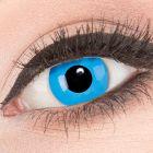 Das Produktfoto zeigt unsere Crazy blaue Farbige Kontaktlinse Sky Blue in einem echten Auge