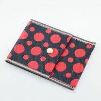 Tatami Portemonnaie Polka dot schwarz rot