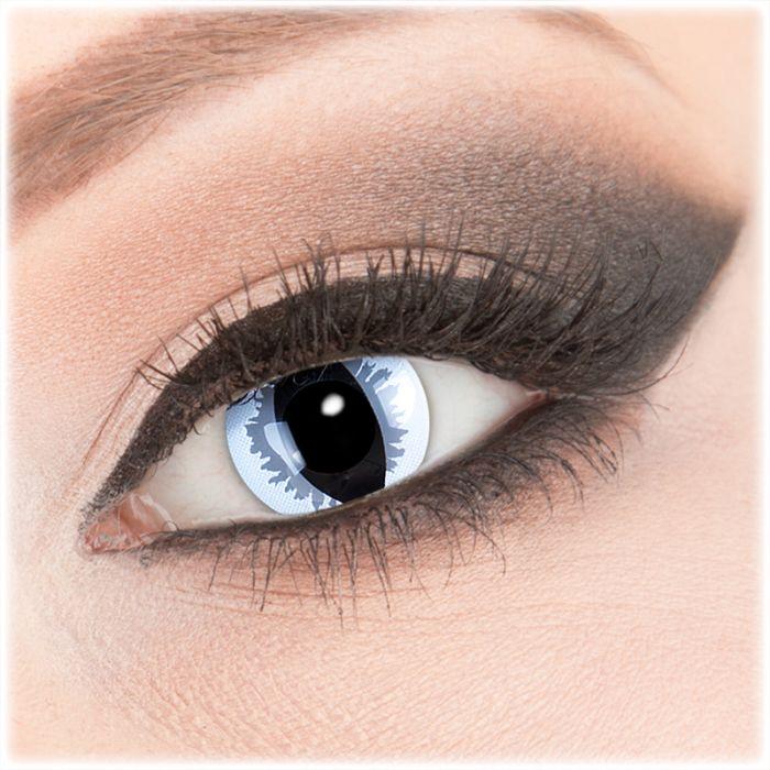 Farbige Kontaktlinse Grey Dragon Ohne Dioptrien Von Funnylens
