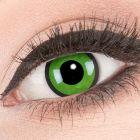 Das Produktfoto zeigt unsere Crazy gruen Farbige Kontaktlinse Black Green in einem echten Auge