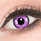 Das Produktfoto zeigt unsere Crazy lila Farbige Kontaktlinse Black Purple in einem echten Auge