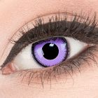 Das Produktfoto zeigt unsere Crazy violet Farbige Kontaktlinse Violet Lunatic in einem echten Auge