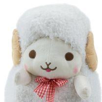 Schaf Weiß Schleife Rot