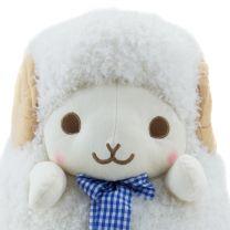 Schaf Weiß Schleife Blau