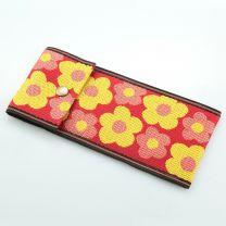 Tatami Etui Flower rot gelb