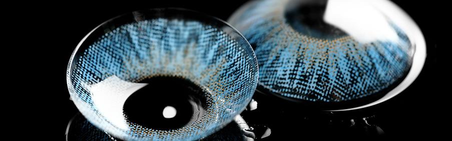 Farbige Braune Blaue und Grüne Kontaktlinsen von Glamlens und MeralenS