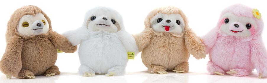 Faultier Sloth Groß Braun Plüschtier Weich und Flauschig Faultier mit Steckbaren Händen