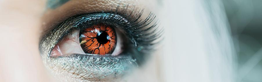 Motiv Kontaktlinsen Crazy Kontaktlinsen für Kostüme