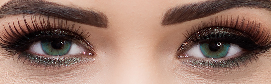 Farbige Beauty Glamour Kontaktlinsen in Blau, Grün, Braun und Dunkelbraun