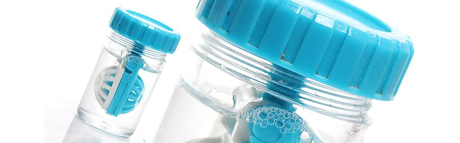 Hohe Kontaktlinsenbehälter zur besonderen Aufbewahrung von Kontaktlinsen