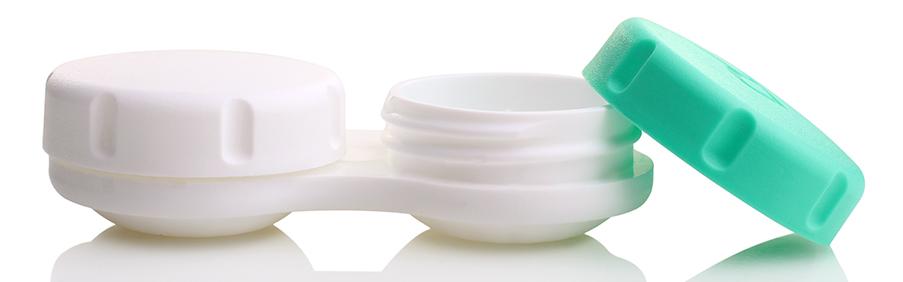 Flache Kontaktlinsenbehälter von MeralenS sind der Standard unter den Kontaktlinsenbehältern