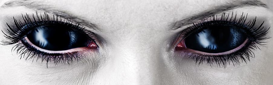 Big Sclera Kontaktlinsen 22mm Durchmesser Black Sclera und mehr