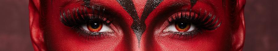 Farbige Rote Halloween Kontaktlinsen mit Stärke von MeralenS