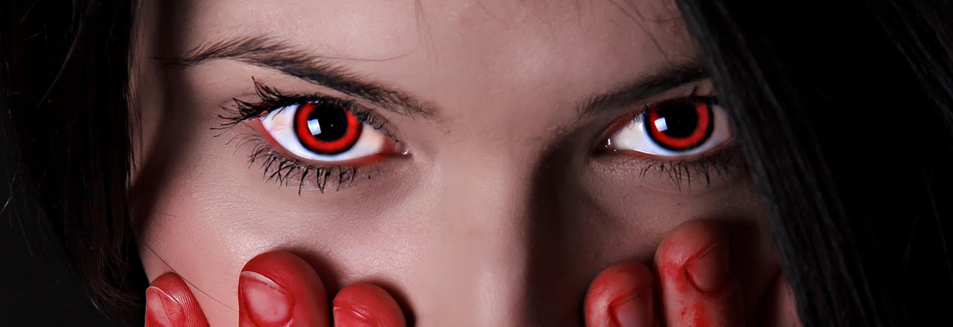 Rote Vampir Kontaktlinsen in Top Qualität von Funnylens.de