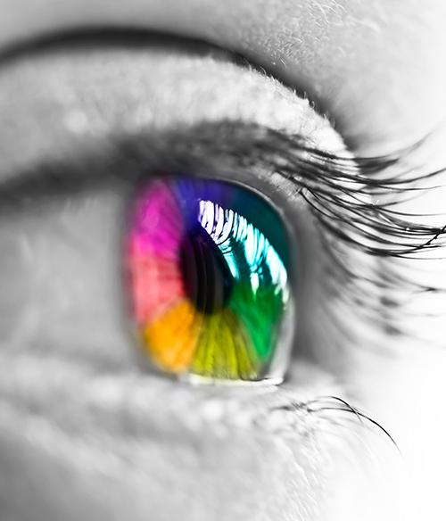 Farbige Blaue Grüne und Braune Kontaktlinsen